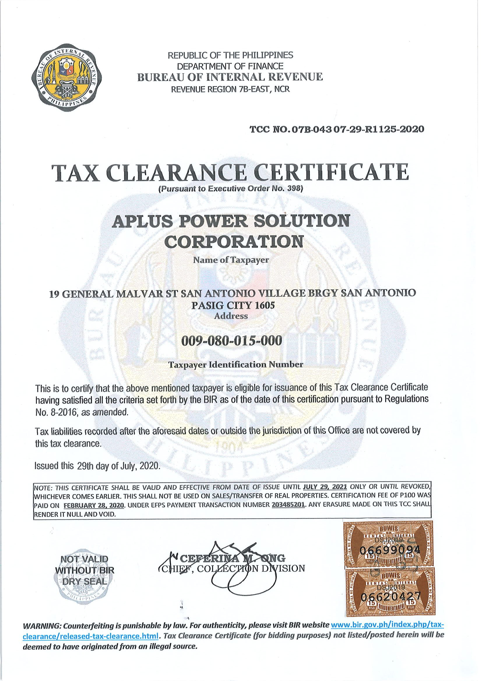 tax clearance-1